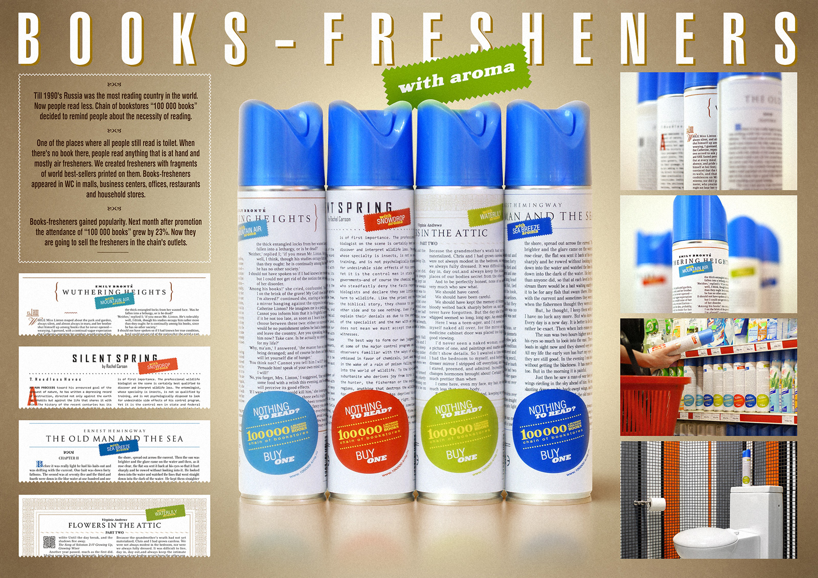 100 000 books - literatuur op luchtverfrissers booksfresheners