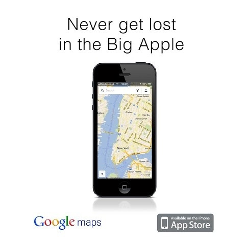 Advertentie Google Maps, plaagstoot naar Apple