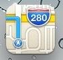Het icoon van Apple Maps