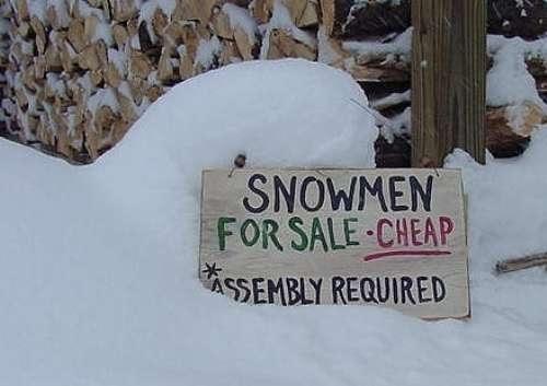Sneeuwpop, wel zelf assembleren