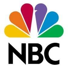 Het logo van NBC. Het zijn niet alleen kleuren, het is een pauw.