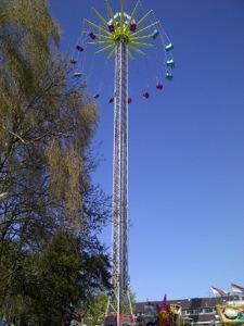 Zweefmolen, kermis in Hilversum, 60 meter