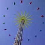 Zweefmolen op zestig meter hoogte