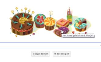 Google feliciteert