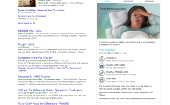 Google medical facts in Knowledge Graph Flu