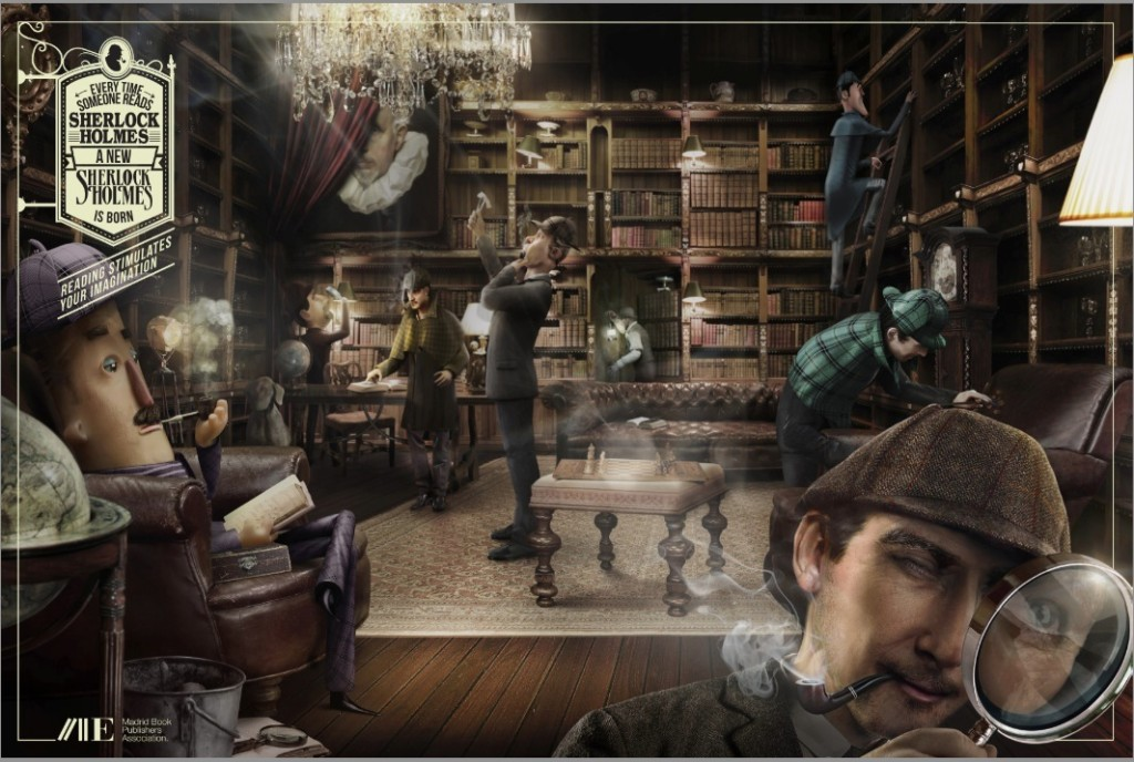 Madrid Book Publishers Association Sherlock Reading stimulates your imagination