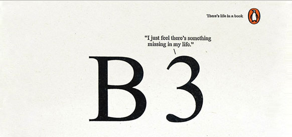 Penguin Books life in a book  b three 3