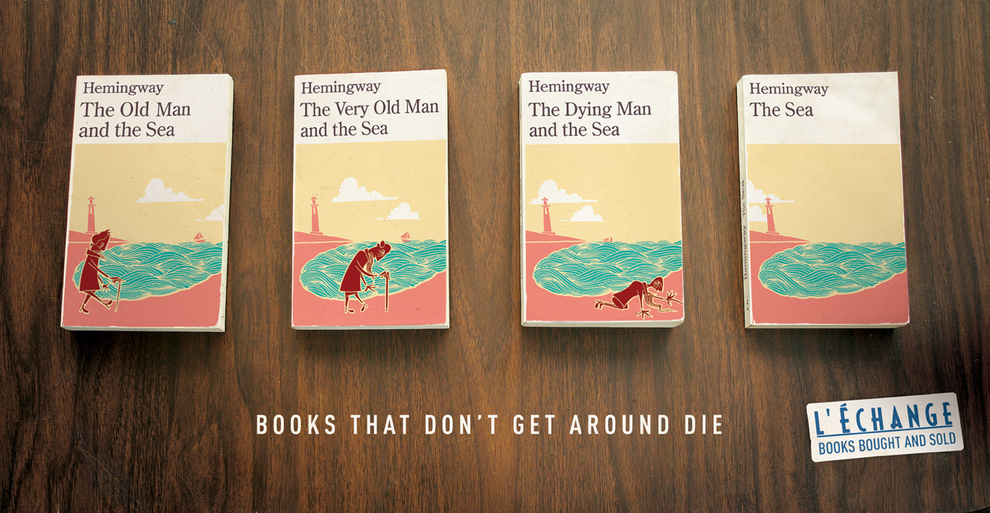 books that don't get around die - l echange books bought and sold - Hemingway - the old man and the sea