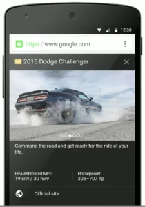 primary ad mock Dodge Challenger