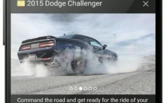 primary ad mock Dodge Challenger