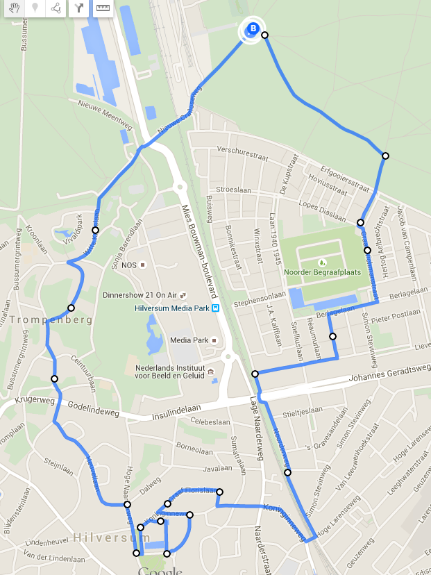 route avondvierdaagse hilversum 2015 dag 4
