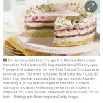 De beeldredacteur van the Guardian zocht een plaatje van een taart