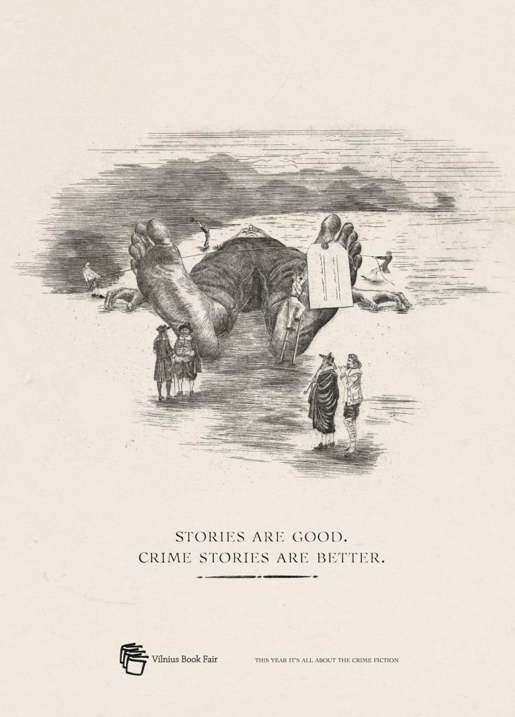 Vilnius Book Fair Stories are good crime stories are better Gulliver