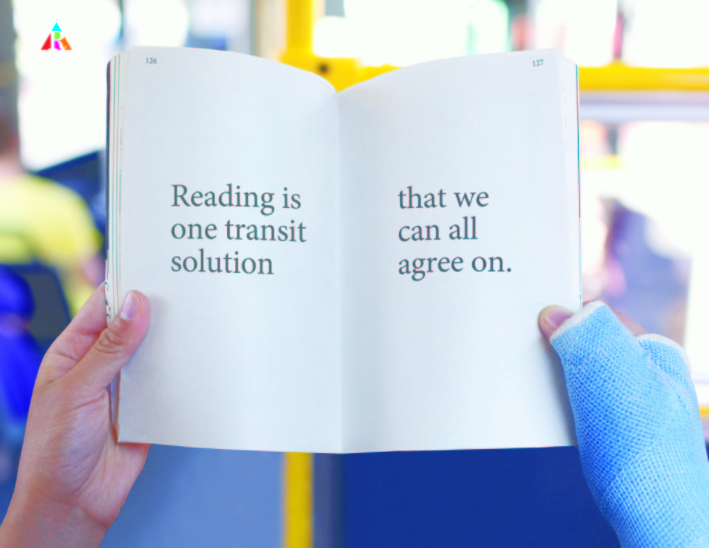 national reading campaign reading is one transit solution tha we can all agree on