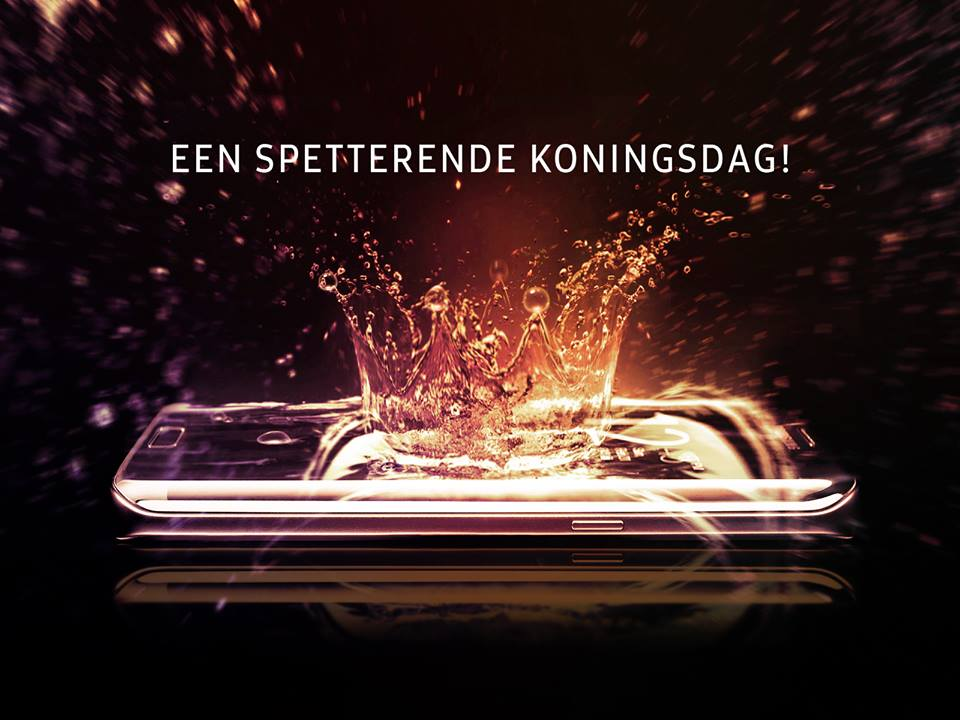 inhaker Koningsdag 2016 Samsung spetterende koningsdag
