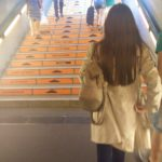 Trapreclame in de Berlijnse metro