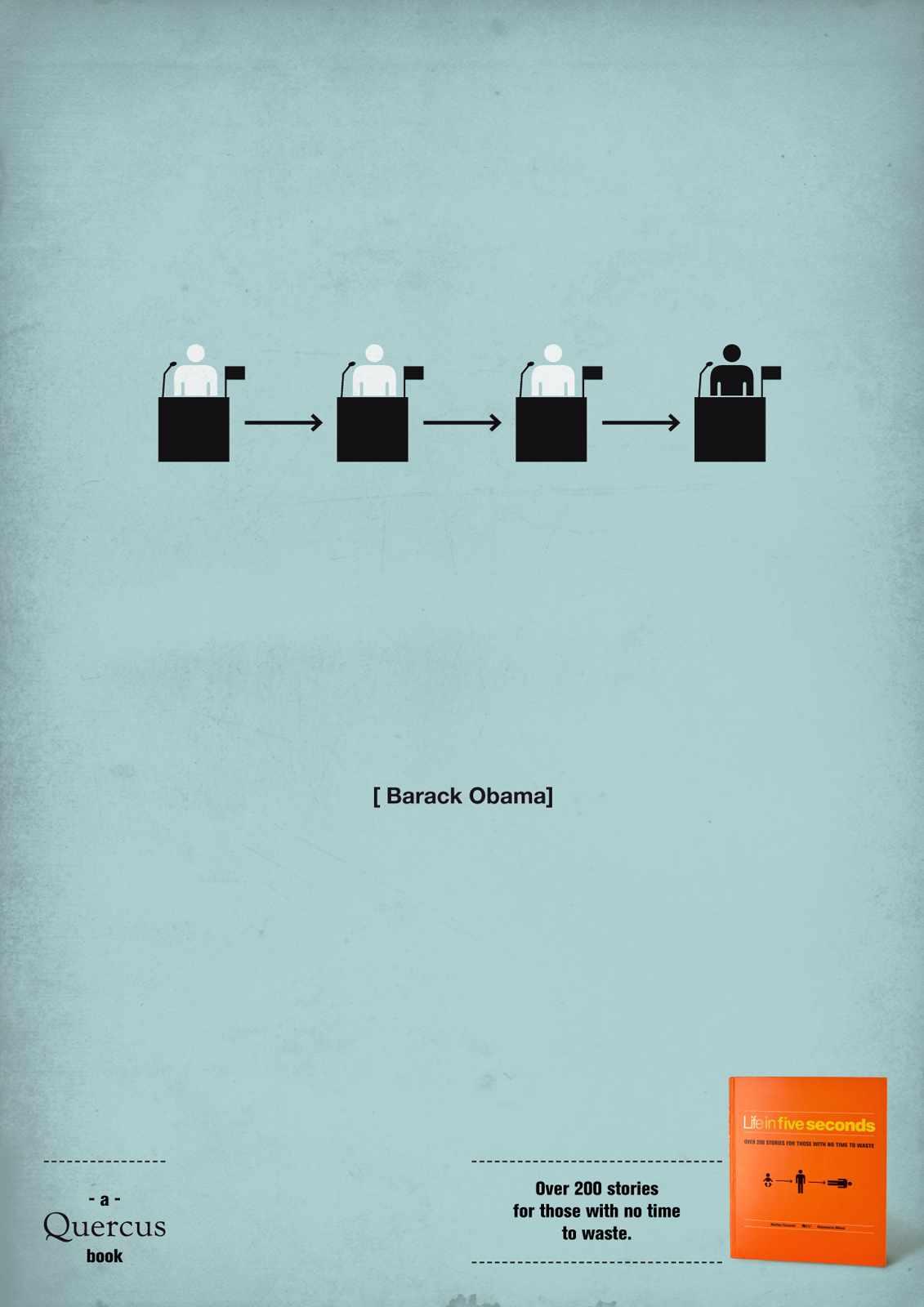 quercus books, life in five seconds Barack Obama