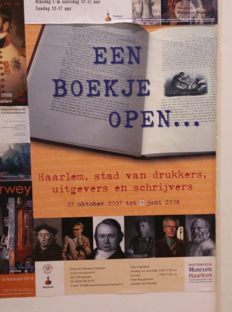 Een boekje open, Haarlem stad van drukkers, uitgevers en schrijvers
