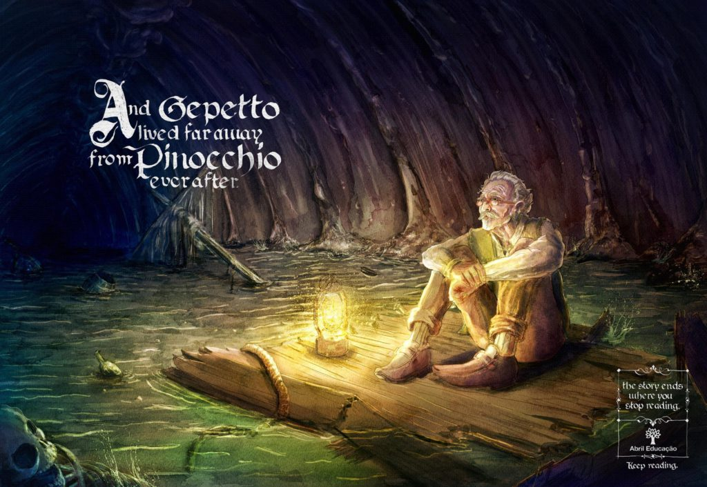 Abril Educacao Pinokkio And Gepetto lived far away from Pinocchio ever after