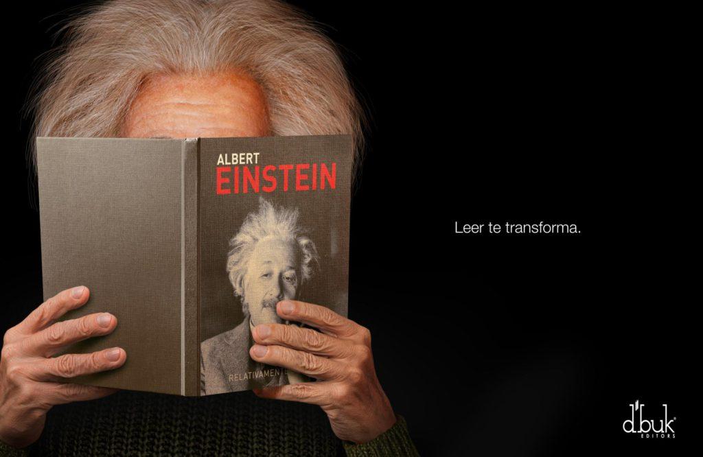 D'buk editors Albert Einstein Reading transforms you