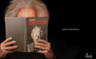 D'buk editors Albert Einstein Reading transforms you
