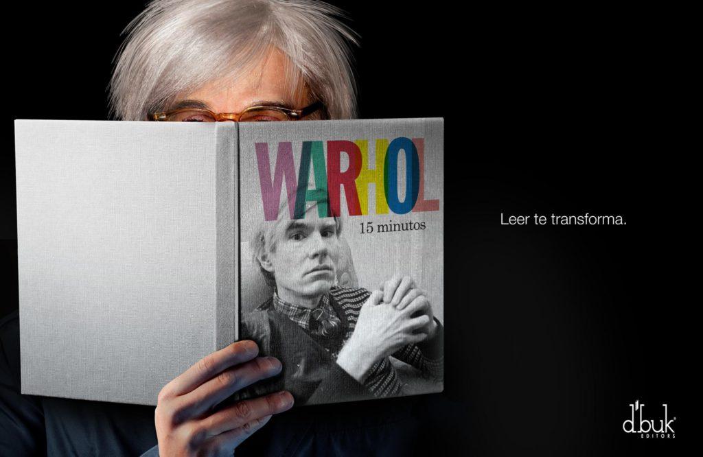 D'buk editors Warhol Reading transforms you