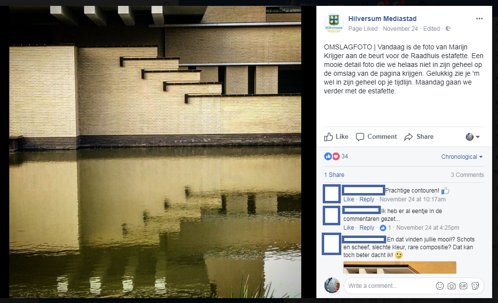 foto marijn krijger op facebookpagina Hilversum