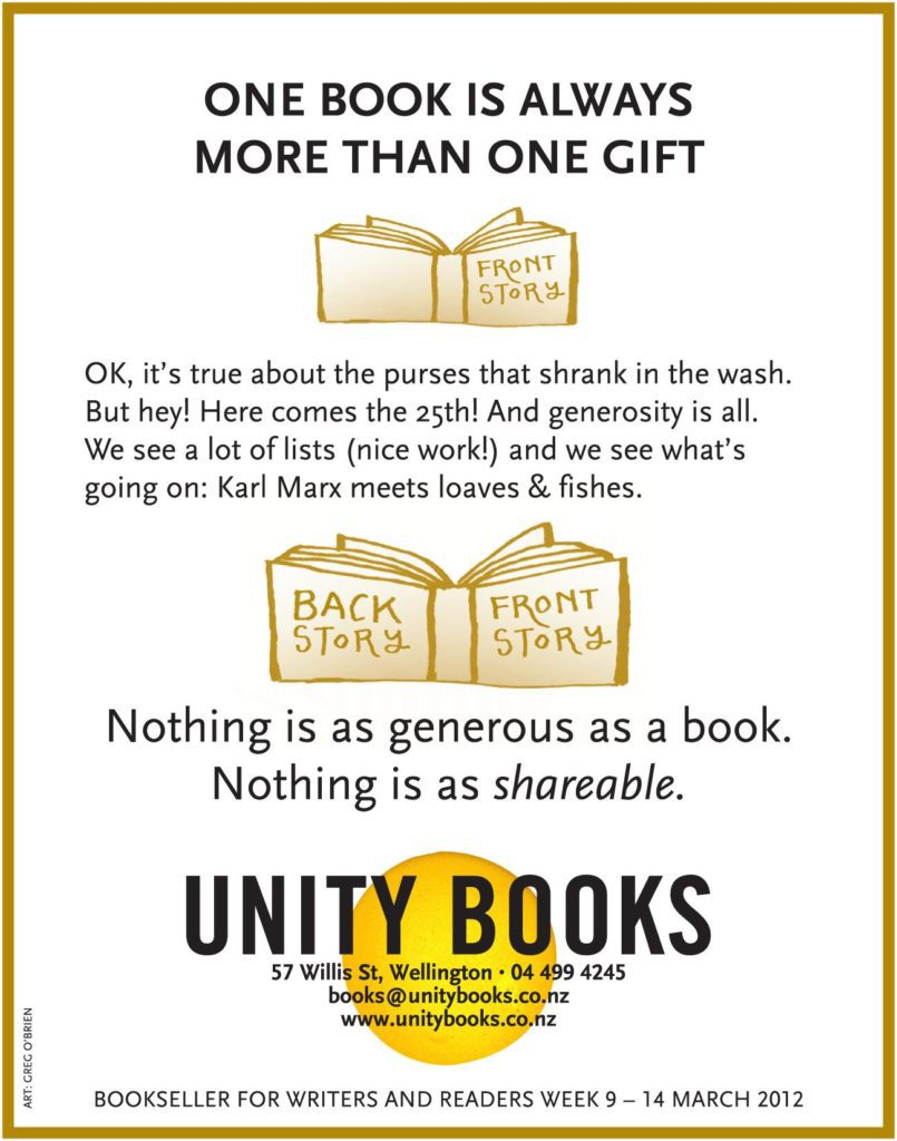 Unity Books NZ Christmas Ad
