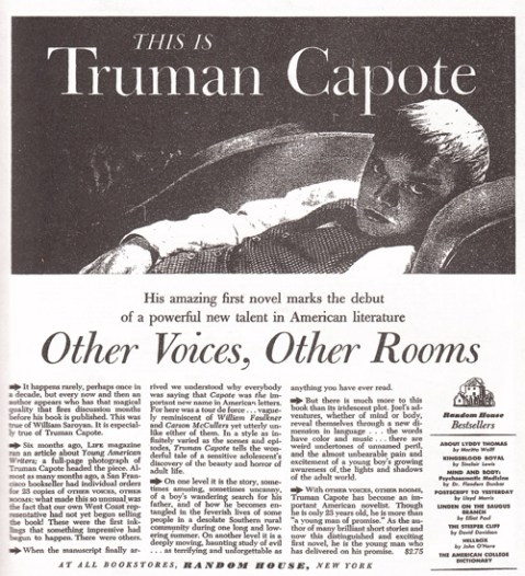 1948 truman capote other voices, other rooms
