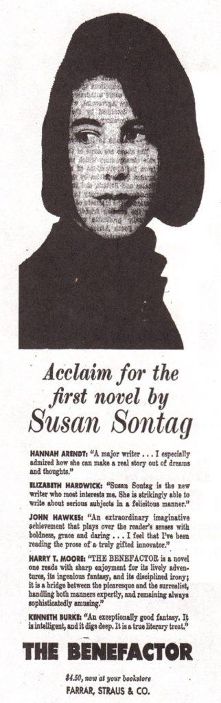 1963 susan sontag the benefactor