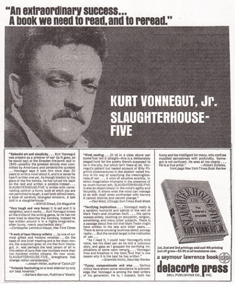 1969 kurt vonnegut jr slaughterhouse-five