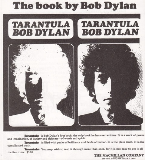 1971 bob dylan tarantula