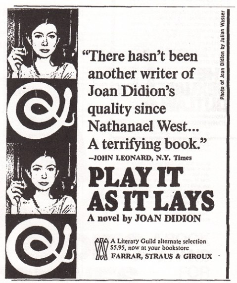 1979 joan didion play it as it lays