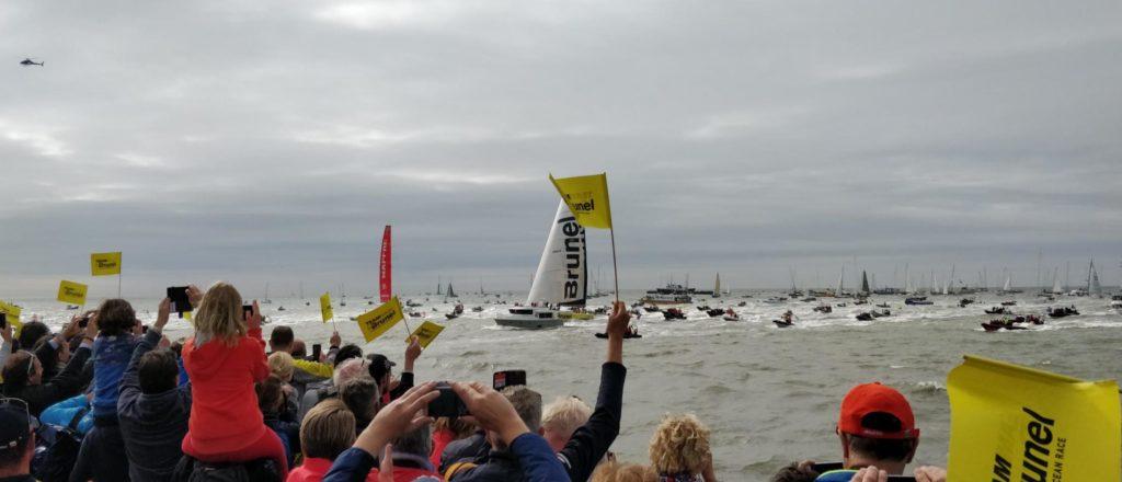 Finish Volvo Ocean Race Den Haag Scheveningen 2018 Brunel wordt derde in de leg en overall