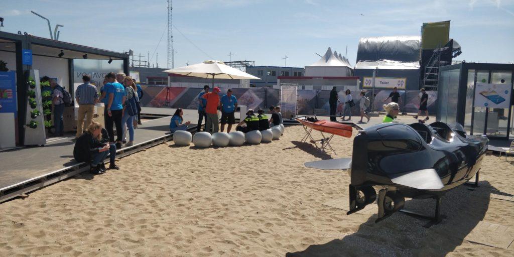 Finish Volvo Ocean Race Den Haag Scheveningen 2018 innovatiepaviljoen