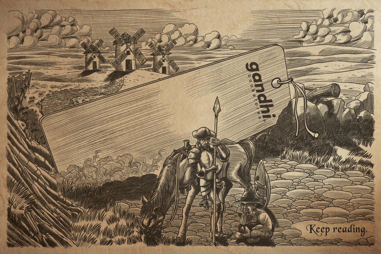 gandhi bookstores boekenlegger Don Quichot
