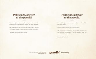 gandhi_bookstores twee verhalen Politicians answer to the people