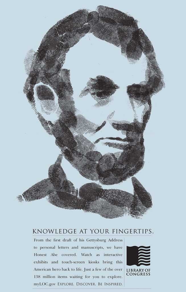 Library of Congress ad with Abraham Lincoln