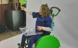 Anna Sophie in rolstoel - fotoshoot