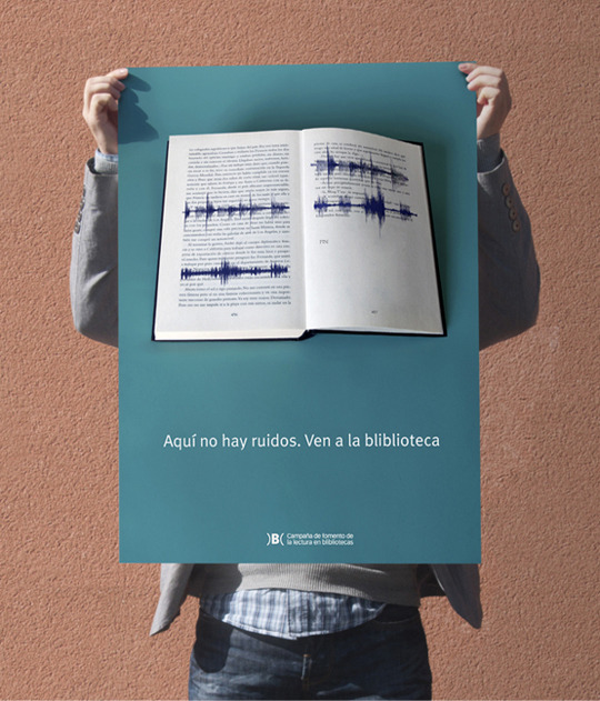 poster para bibliotecas - rustig lezen in de bieb