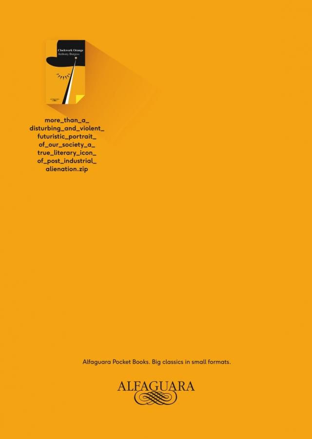 Alfaguara The Secret in Their Eye, Clockwork Orange, Bukowski