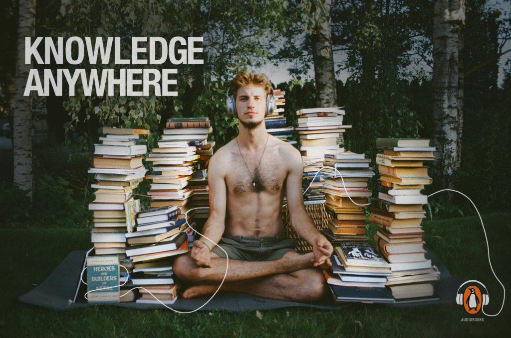 Knowledge Anywhere Penguin meditation
