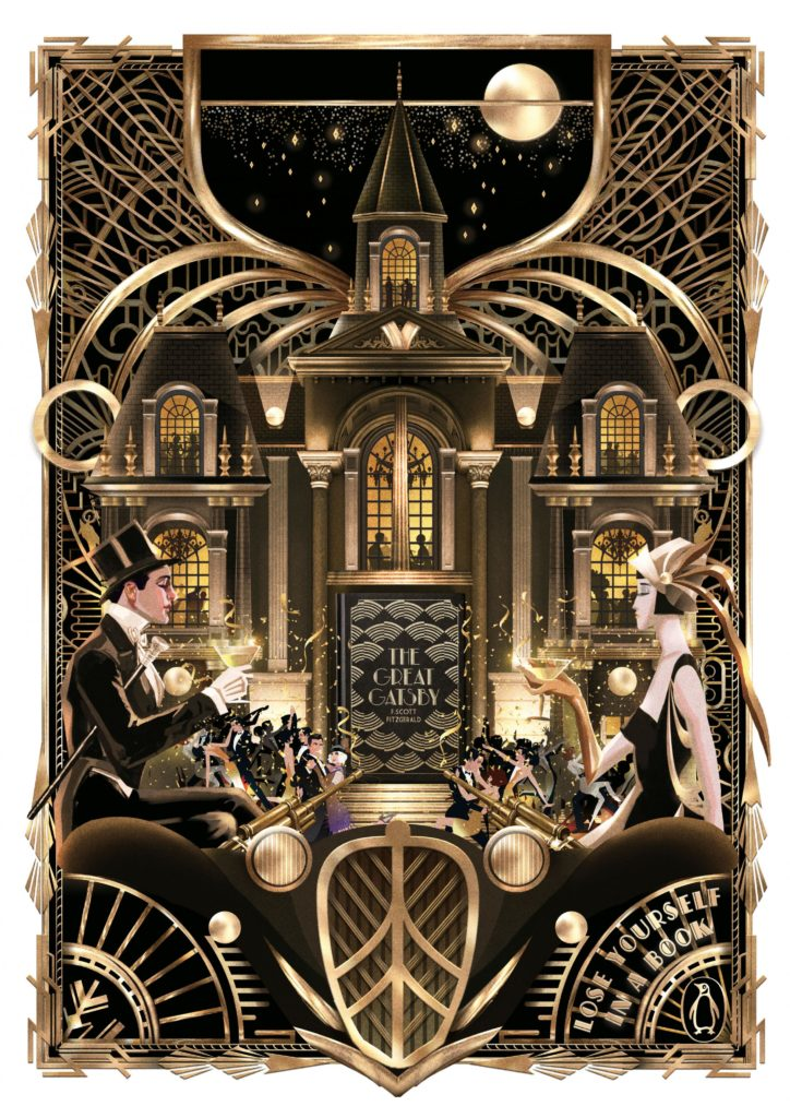 Lose Yourself in a Book Penguin The great Gatsby F Scott Fitzgerald