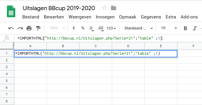importhtml google sheets bbcup