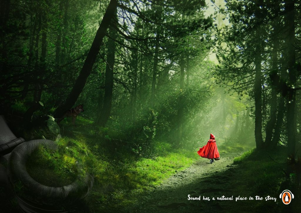 penguin little red riding hood roodkapje sound has a natural place in the story