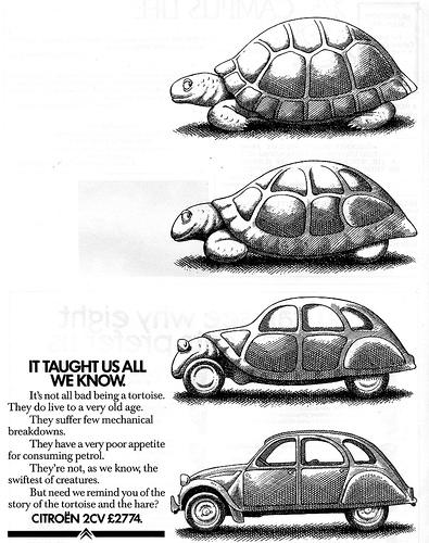 Advertentie 2CV schildpad