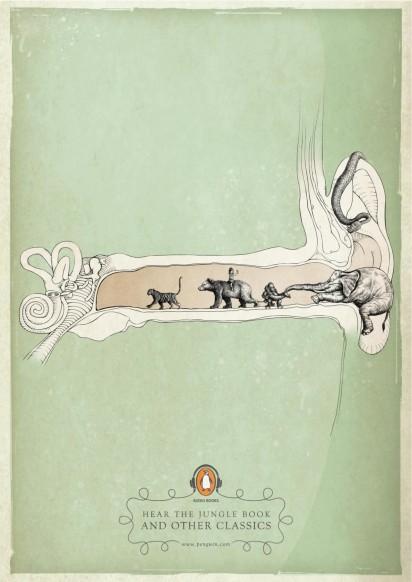 Advertentie audioboeken Penguin Books - Jungle book