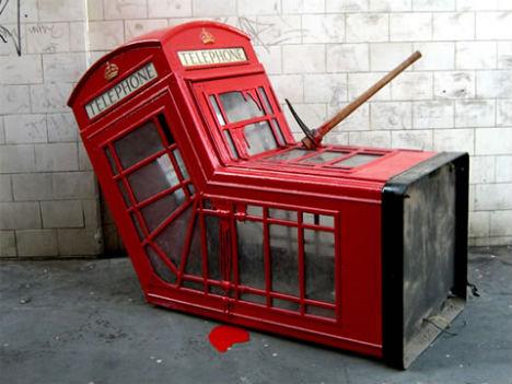 Banksy, vermoorde telefooncel. bendgate iPhone 6