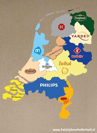 Bekendste merk per provincie