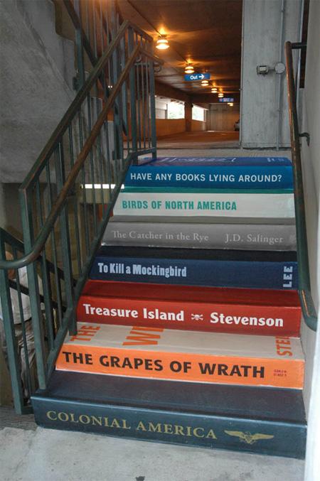 Boekentrap - Treden als boeken